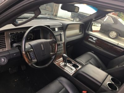 2014 Lincoln Navigator inside the cab